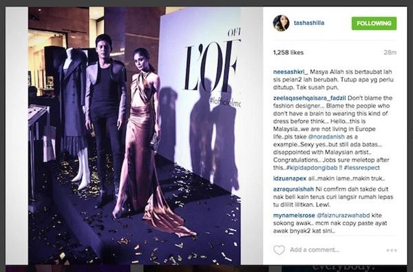 MELAMPAU!! Fesyen 'Seksi Maut' Tasha Shilla Cetus Kontroversi