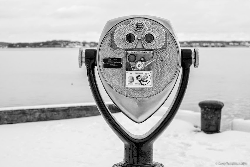 November 2014 Maine State Pier in Portland Maine coin operated binoculars photo by Corey Templeton