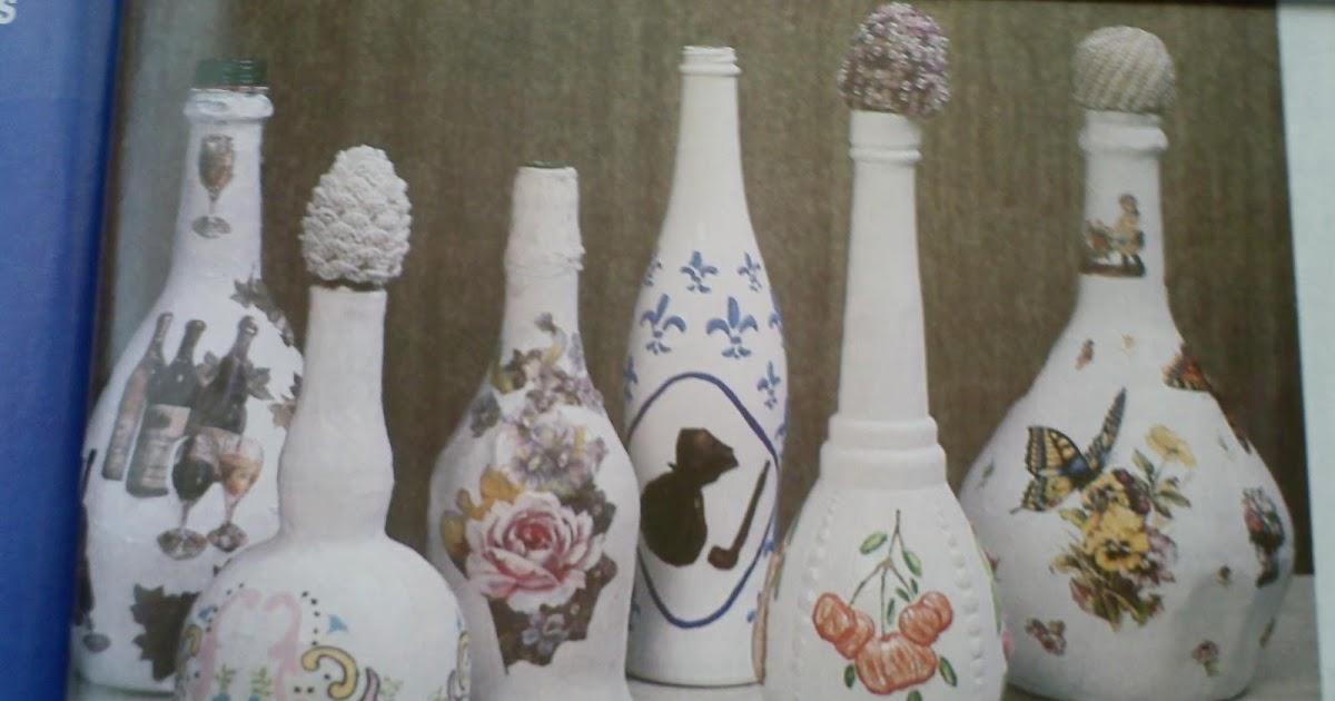 Todo para eventos botellas decoradas - Papel para vidrios ...