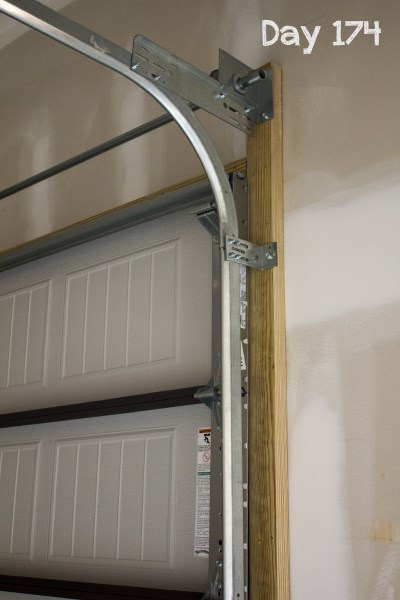 garage door trim installation 1