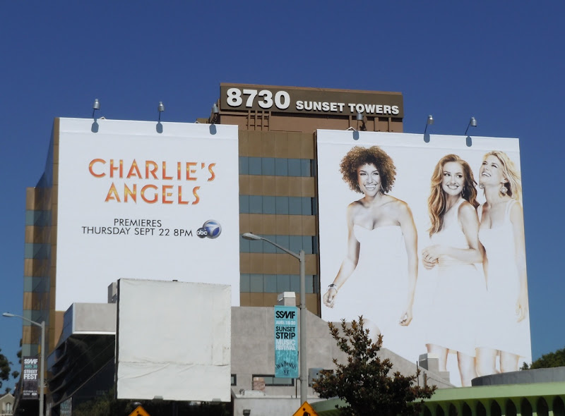 Charlie's Angels remake TV billboard