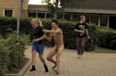 Hot German Student Lads In Naked Run