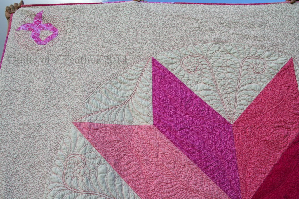 pink feather quilt wall - photo #23