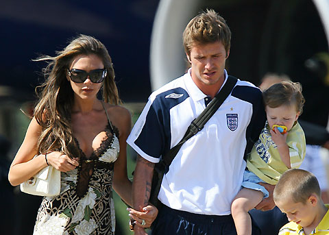 Sports Accessin David Beckham With Wife Images 2012