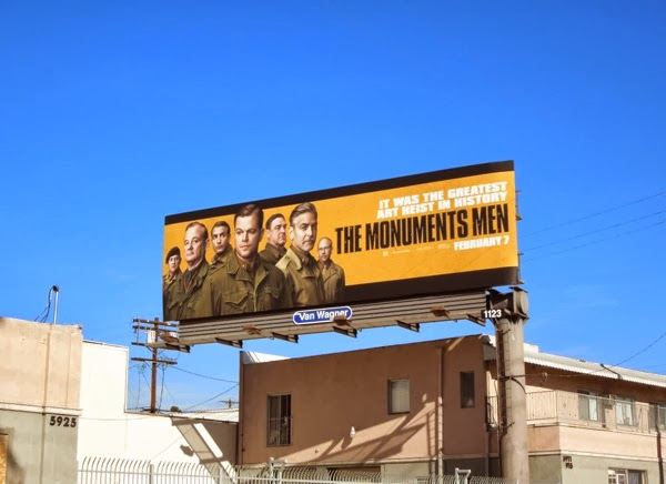 The Monuments Men film billboard