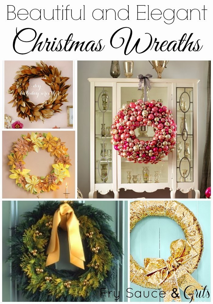 Beautiful and Elegant Christmas Wreaths from FrySauceandGrits.com
