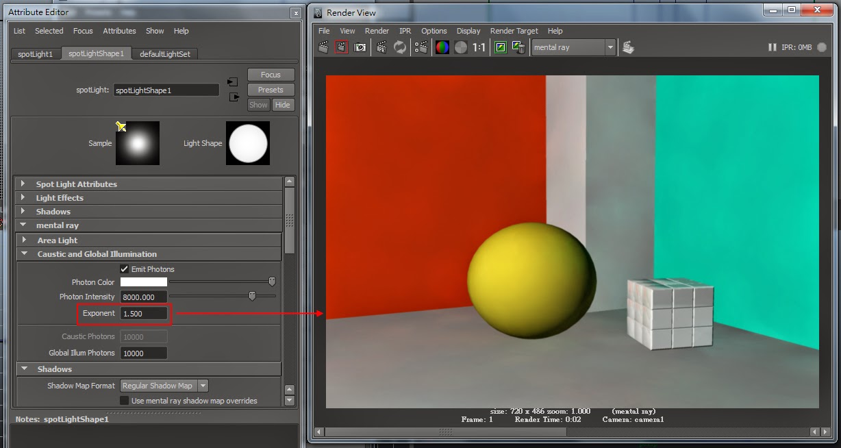 GI Render Setting in Maya 09