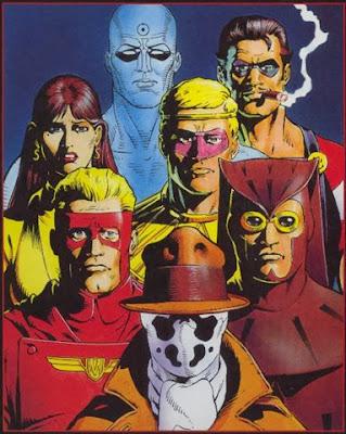 Ilustración de los personajes de Watchmen