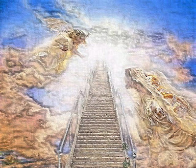 Angels and the stairway to heaven