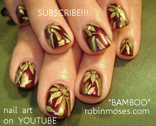 Robin moses nail art bamboo nails bamboo nail art maroon and bamboo nails bamboo nail art maroon and gold nail simple blue flower nail blue flower nail french nail with blue marigold nail prinsesfo Images