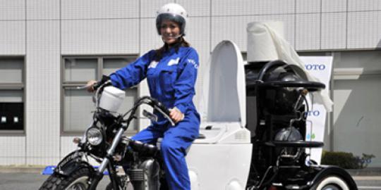 Sepeda Motor Berbahan Bakar Tinja