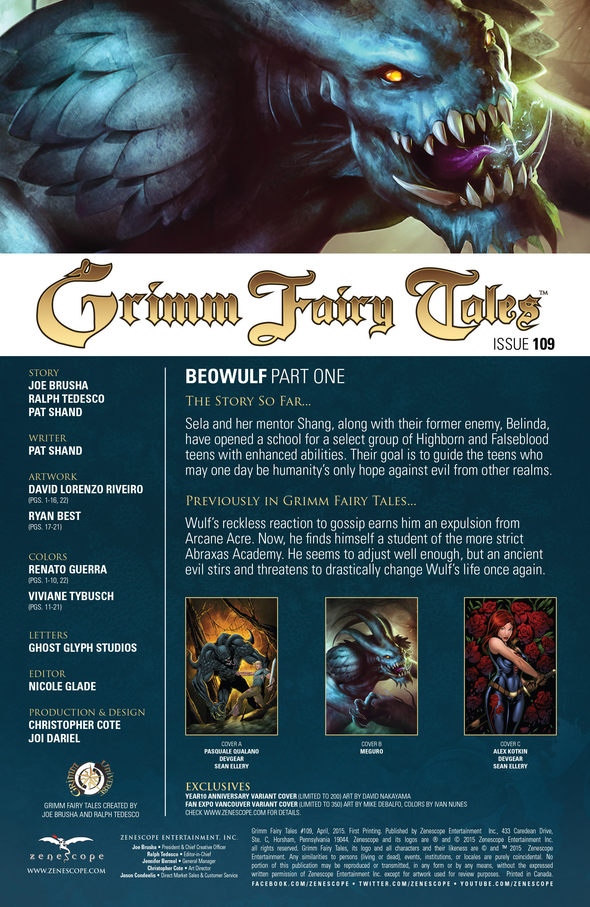 Grimm Fairy Tales (2005) Issue #109 #112 - English 2