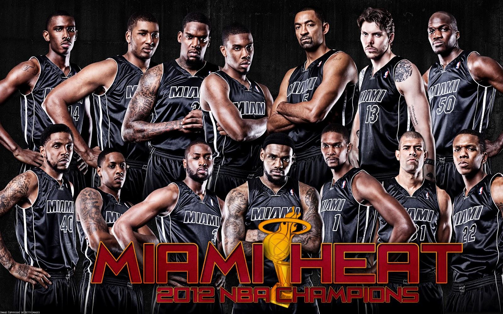 Miami Heat 2012 NBA Champions Roster Wallpaper ~ Big Fan ...