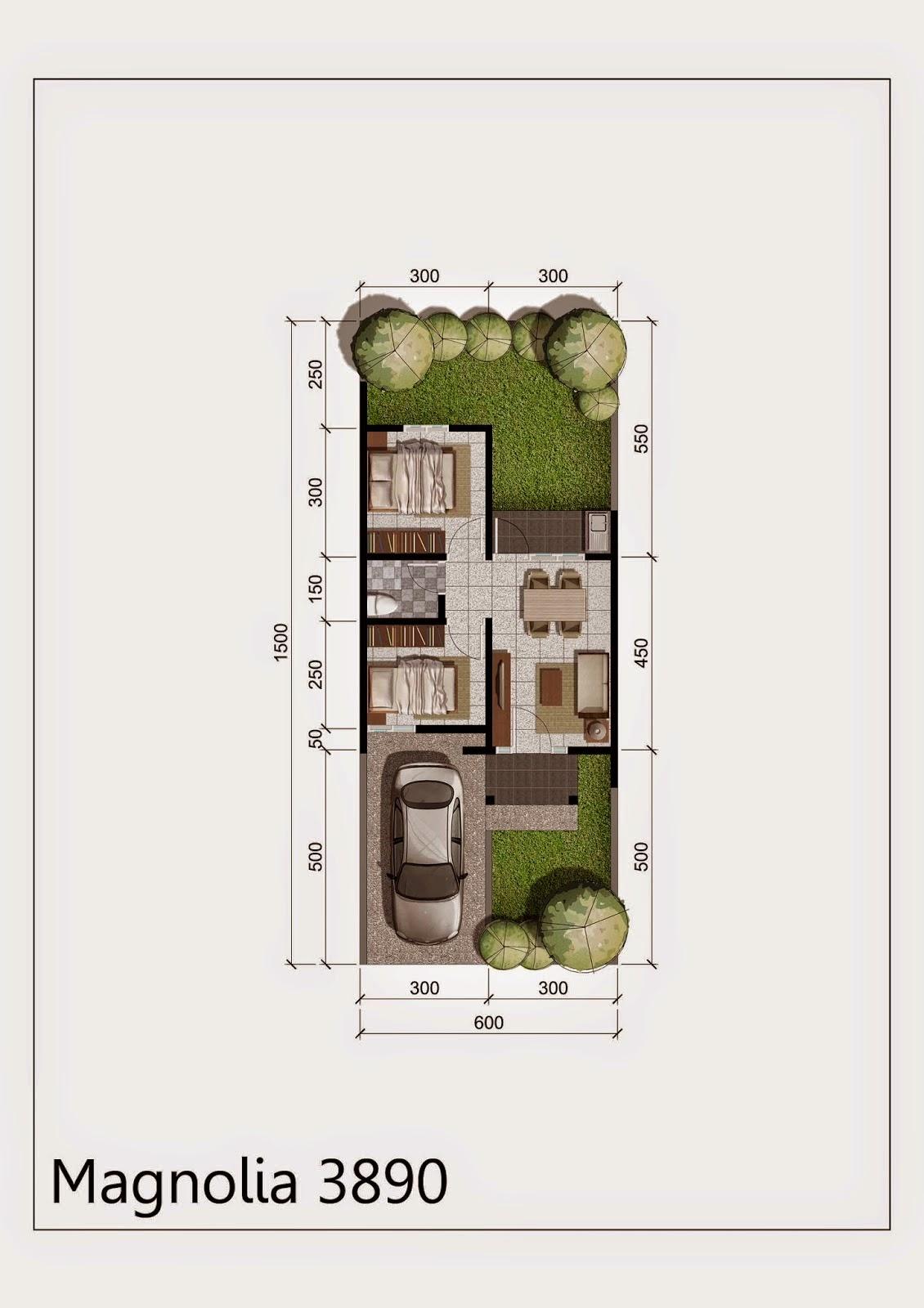 Denah Rumah Bukit Magnolia Citra Indah