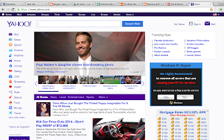 Screenshot of Yahoo