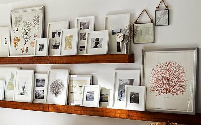 Observa y decora cuadros apoyados - Baldas para cuadros ...