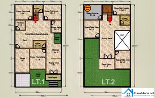 desain rumah minimalis 2 lantai type 45 blogger reog