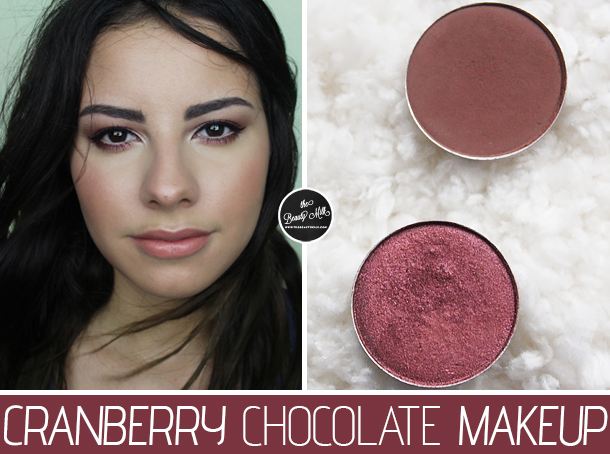 mac cranberry swiss chocolate fall makeup look