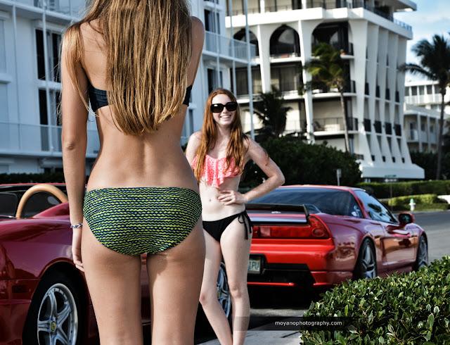 Honda NSX, fotki, dziewczyny i auta