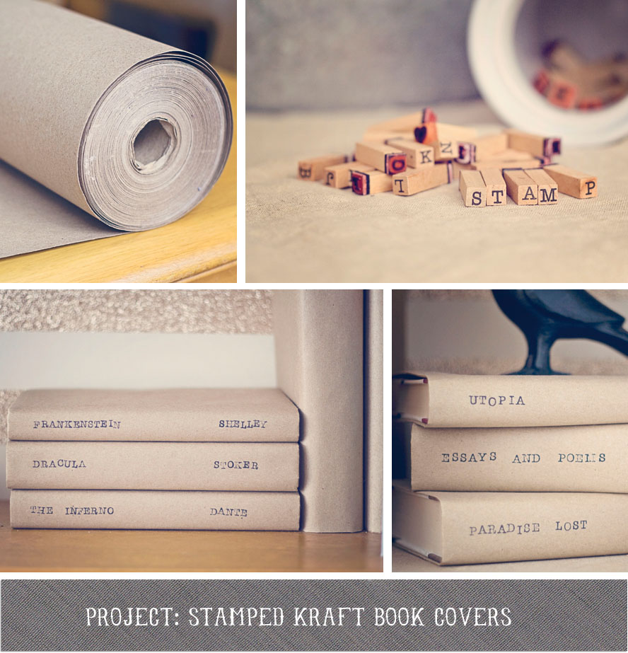 Book Cover Paper : This little sparrow project stamped kraft book covers