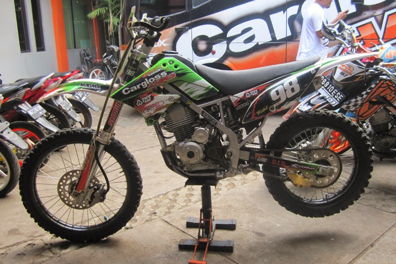 kawasaki klx 150 modifikasi trail