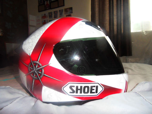 used shoei xr 1000 symbol red medium excellent condition. Black Bedroom Furniture Sets. Home Design Ideas