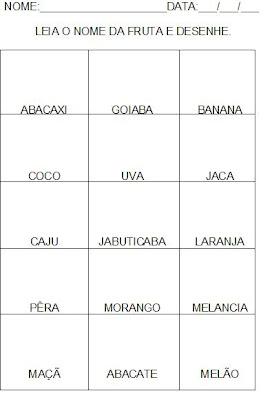 Atividades para a hipótese de escrita silábico alfabético. Alfabetização