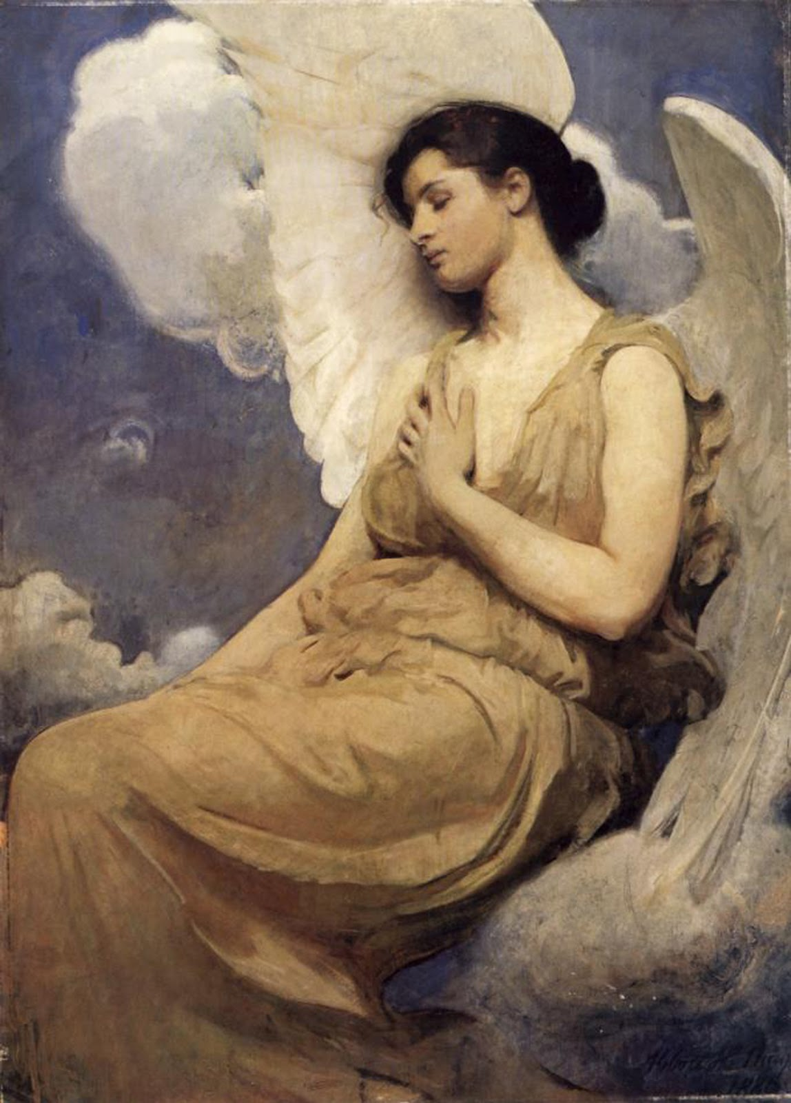 The Beautiful Angels of Abbott Handerson Thayer ... Angel Painting Renaissance