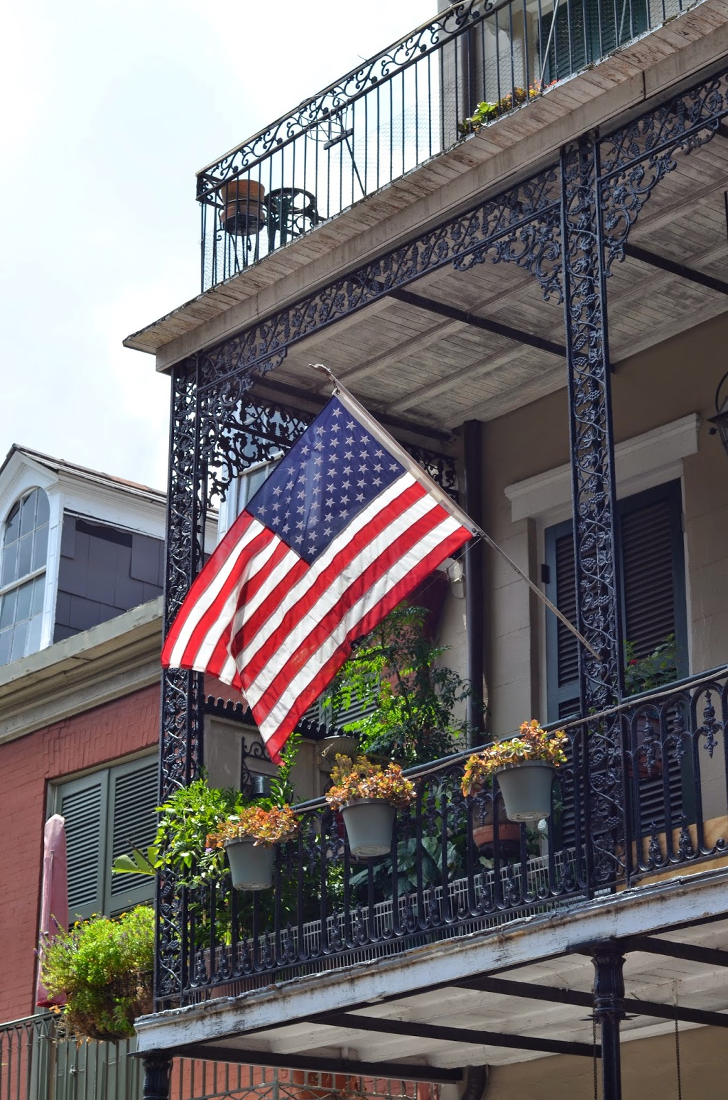 american flag, new orleans