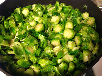 brussel sprouts with brown sugar and toasted walnuts