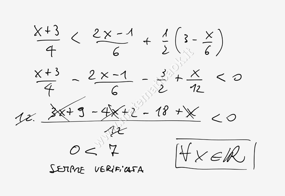 Esercizi svolti di matematica esercizio 3 disequazioni for Problemi di primo grado a due incognite esercizi