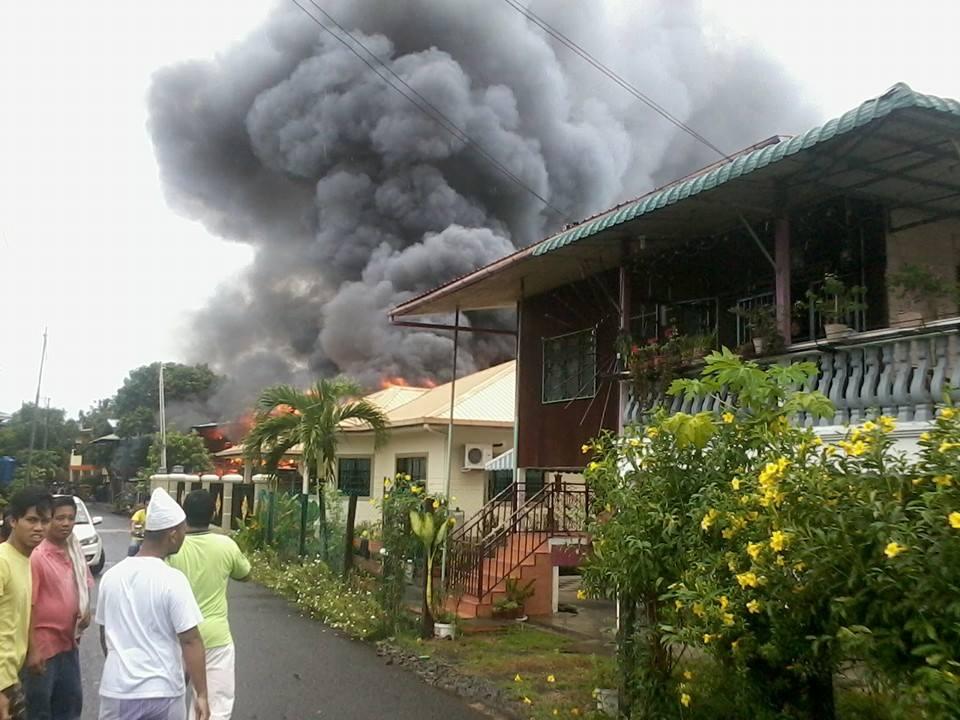 Rumah Papan Musnah Terbakar