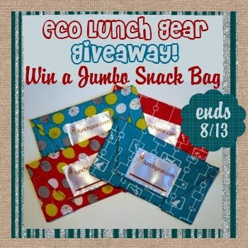 Eco Lunch Gear, Jumbo Snack Wrap, Giveaway