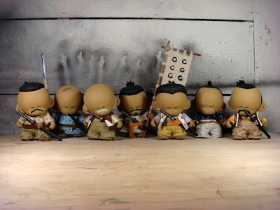 The Huck Gee Project The Seven Samurai Custom Munny Vinyl Figures by Huck Gee