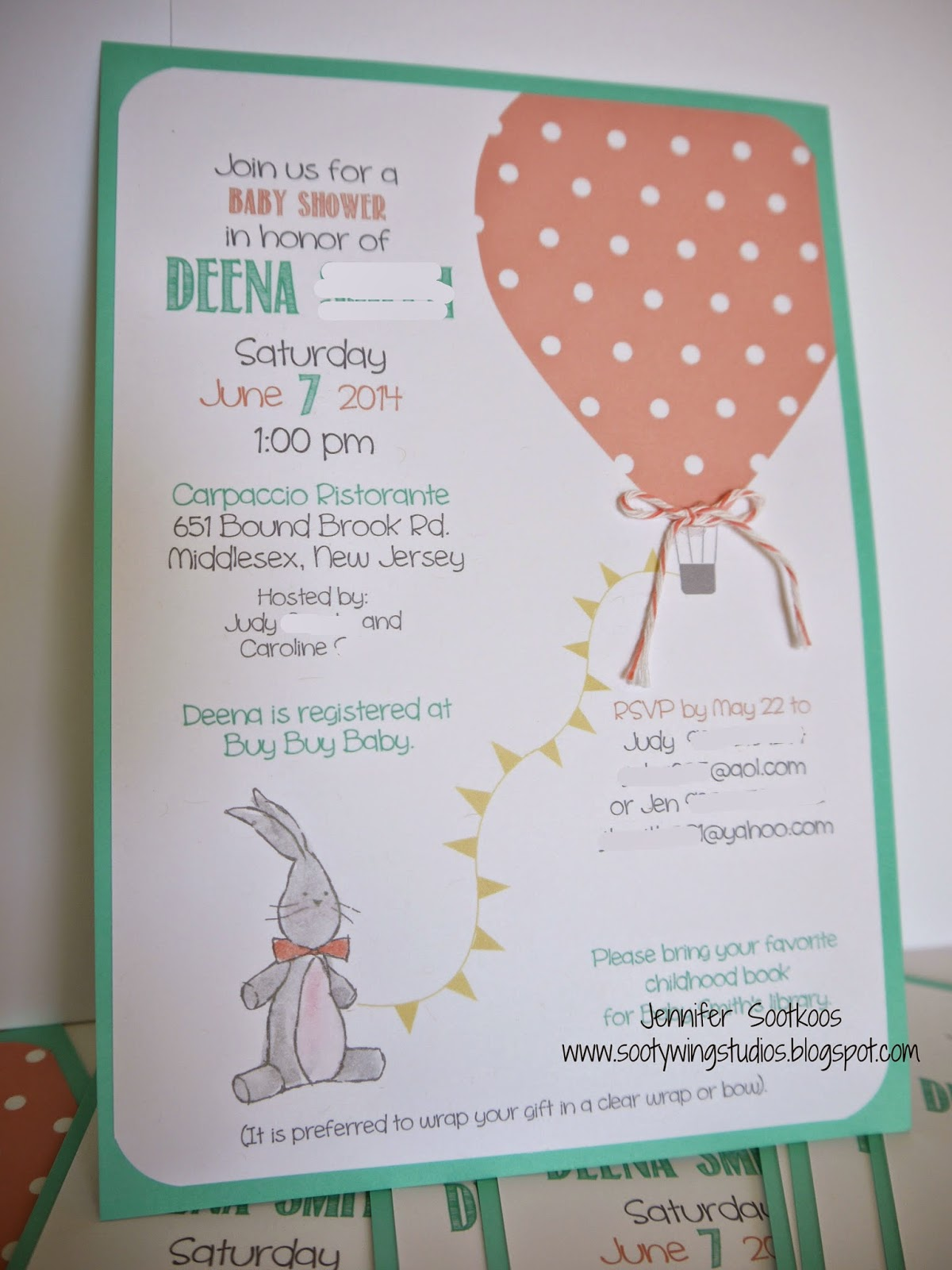 Sootywing Studios: Baby Shower Decorations