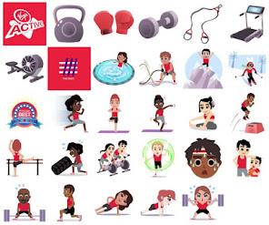 Gli emoji del fitness