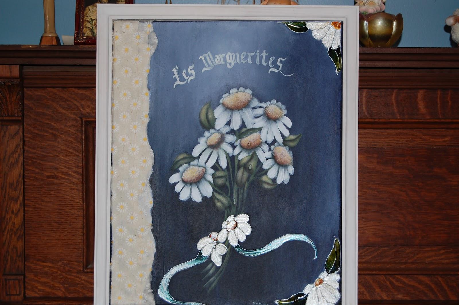 sur toile avec faux-vitrail et peinture acrylique, pour débutant plus