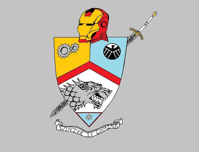 Tony Stark Game of Thrones Family Coat of Arms