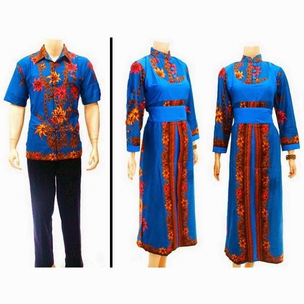 Baju Pasangan Batik Muslim Motif Bunga