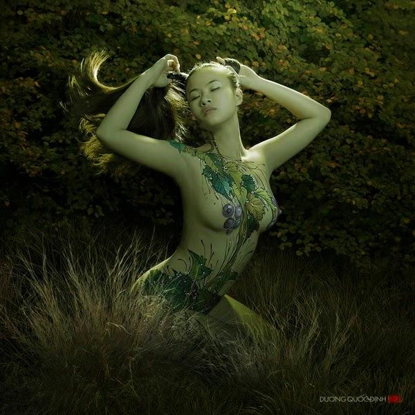Ảnh gái xinh Body painting của Dương quốc định 6