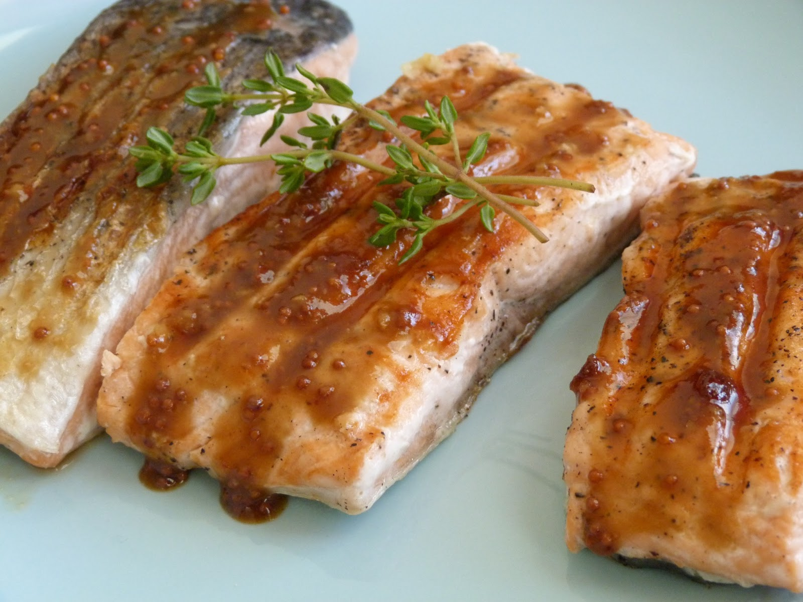 Salmon with Brown Sugar and Mustard Glaze - Obsessive ...