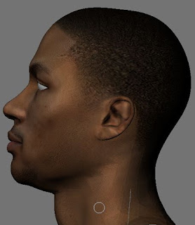 NBA 2K13 Derrick Rose HD Cyber Face Patch Sideview
