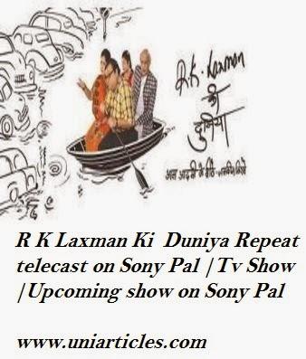 R K Laxman Ki  Duniya Repeat telecast on Sony Pal |Tv Show |Upcoming show on Sony Pal