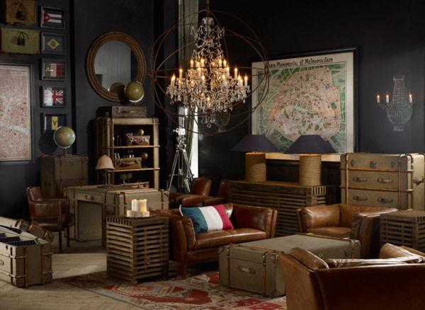 Decoraci n f cil salones vintage al mas puro estilo americano for Decoracion estilo americano