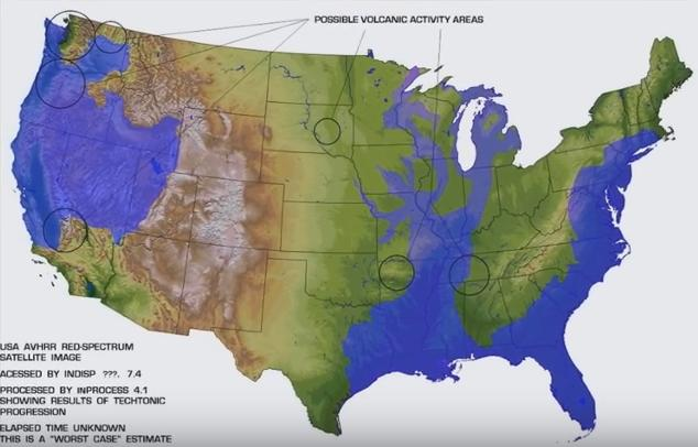 Where US Would Be Flooded If A Pole Shift Reaches IGEOTV YouTube - Us navy map after pole shift