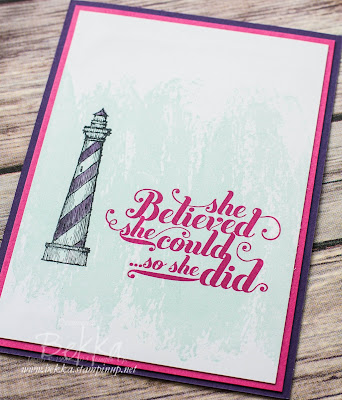 Card Letting People Know You Believe in Them using Stampin' Up! UK Supplies which are available here