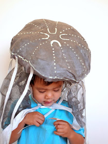 DIY Glow in the dark jellyfish costume