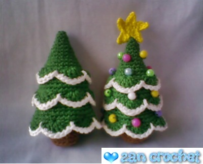Amigurumi Christmas Tree Patterns : Amigurumi Christmas Tree ~ Zan Crochet