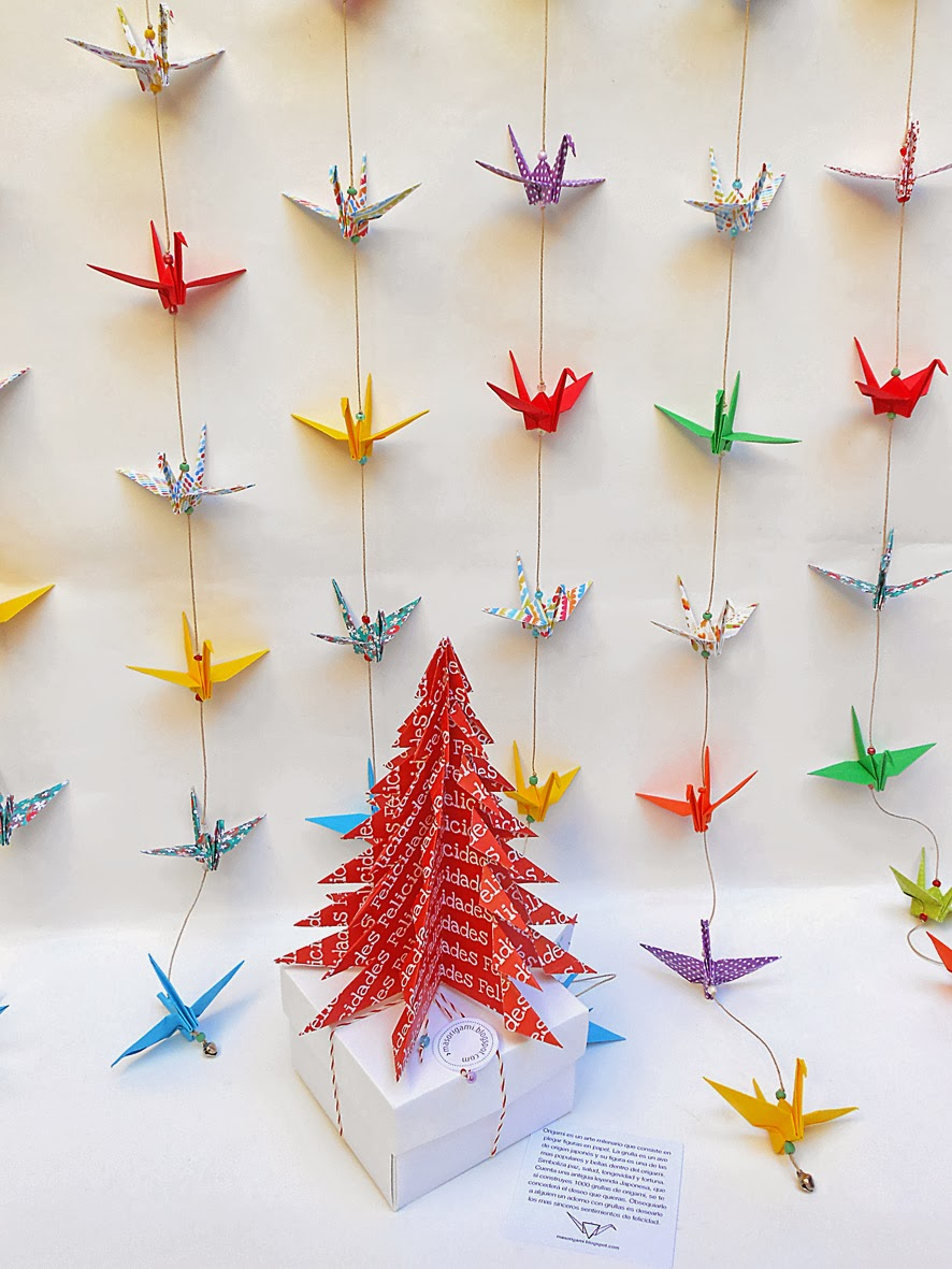 Mas origami arbolito de navidad rojo - Arbol de navidad de origami ...