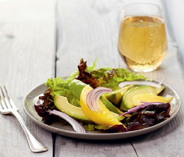 Mango and Avocado Salad with Raspberry Vinaigrette Recipe